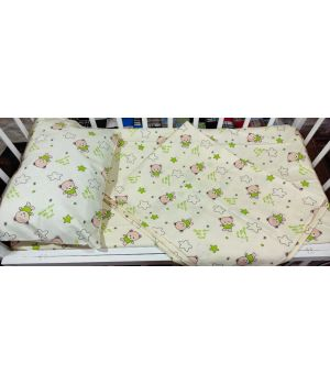 Постельное в детскую кроватку (с пододеяльником 90*110)