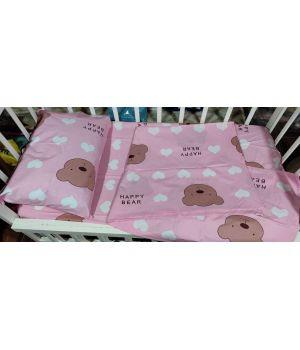 Постельное в детскую кроватку (с пододеяльником 110*140)