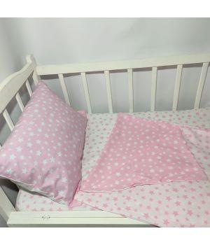 Постельное в детскую кроватку КОМБИНИРОВАНОЕ (с пододеяльником 110*140)