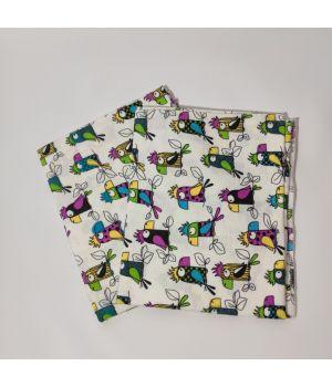 Пеленки из байки 90*110 попугаи